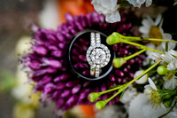 ring and flower wedding details