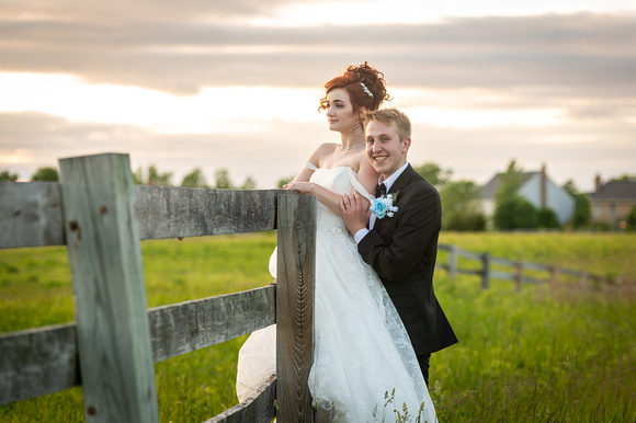Bride and Groom Portraits at Byron Colby Barn