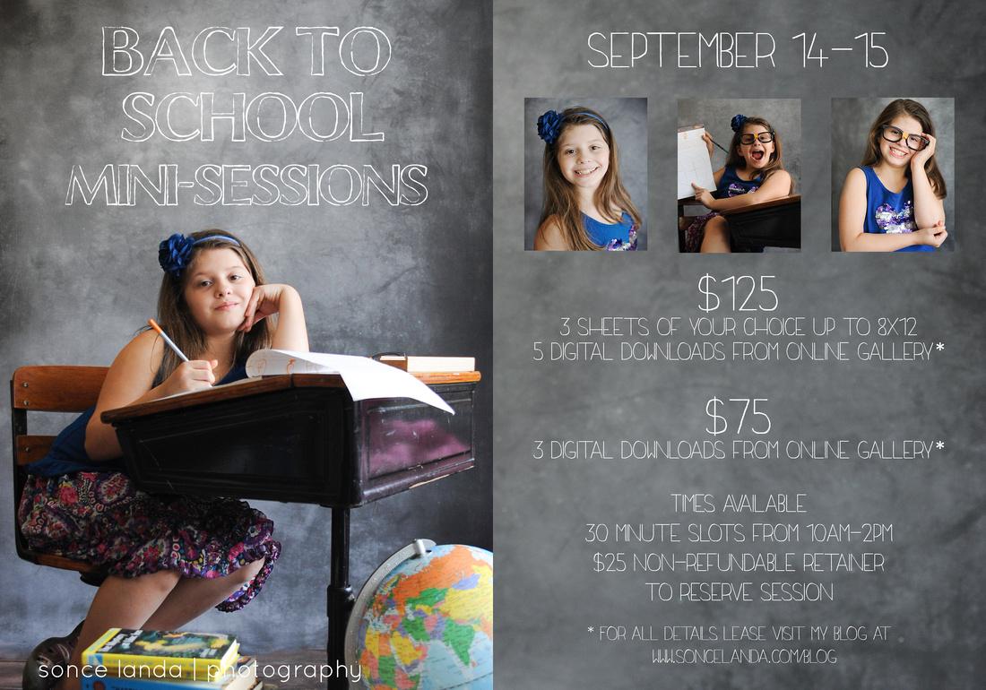 Back to school, mini-session, chicago children